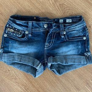 Miss Me Jean Shorts w/Pocket Zipper